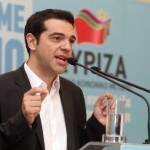 Coalition of the Radical Left Leader Alexis Tsipras presents his party's programme in Athens